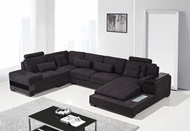 Black Fabric Sectional Sofas With Chaise Modern Design Ideas Photo 60