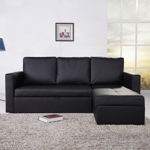 Black Leather Sectional With Chaise Furniture Design Living Room Photos 75
