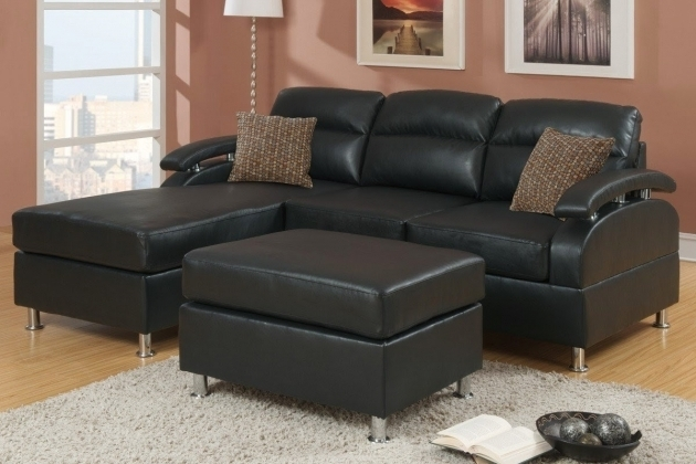 Black Leather Sectional With Chaise Small Design Photo 34