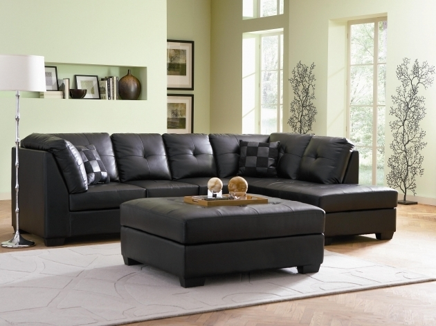 Coaster Darie Black Leather Sectional With Left Chaise Pictures 37