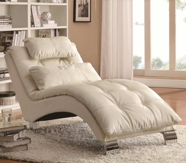 Contemporary Double Chaise Lounge Indoor White Design Coaster Home  Furnishings Images 04