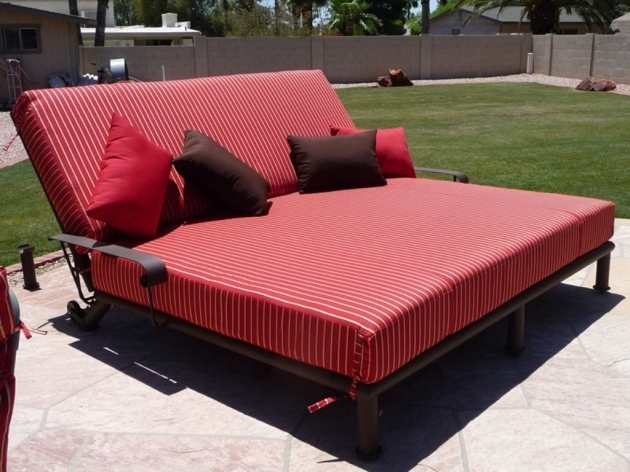 Double Chaise Lounge Cushions Outdoor Ideas Hardware Plans Photo 33
