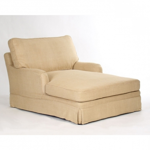 Double Chaise Lounge Indoor With Arms And Storage For