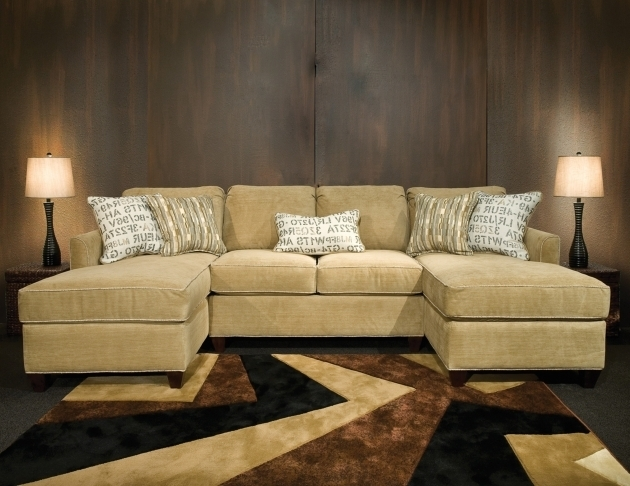 Double Chaise Lounge Sofa Living Room Design Photo 50
