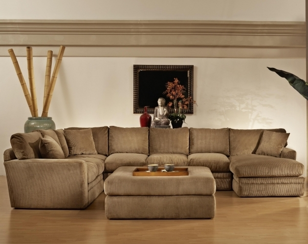 Fabric Sectional Sofas With Chaise And Ottoman Images 93