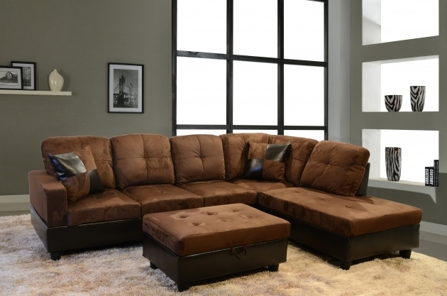 Furniture Dark Brown Brown Leather Sectional With Chaise Mixed Brown Microfiber Sleeper Sofa Image 99