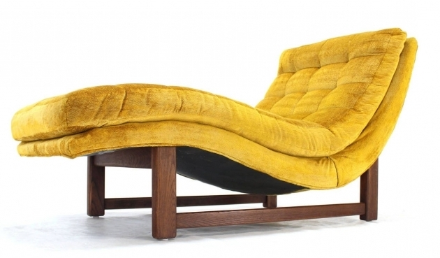 Golden Velvet Upholstery Wave Mid Century Modern Chaise Lounge Ideas Photo 18