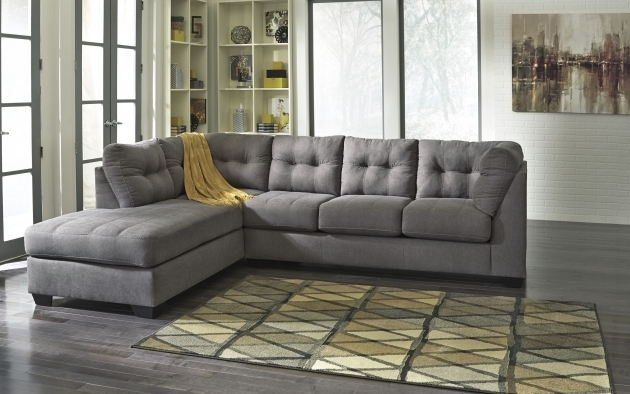 Grey Maier Contemporary Charcoal Fabric Sectional Sofas With Chaise Living Room Image 72