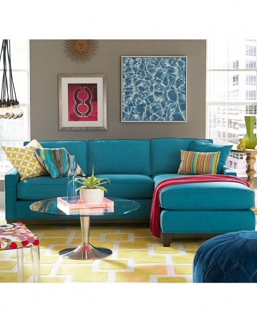 Keegan Fabric Blue Sectional Sofa With Chaise Living Room Furniture Photo 46
