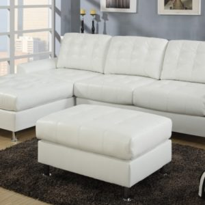 Leather Couch with Chaise