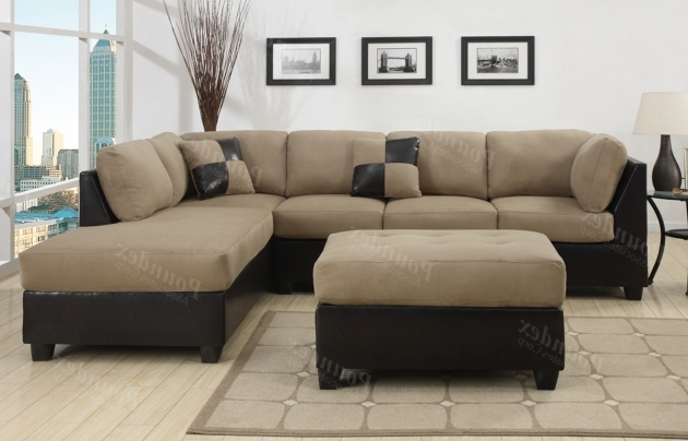 Microfiber Sectional Sofa With Chaise Furniture Couch 3 Pc For Living Room Photo 80