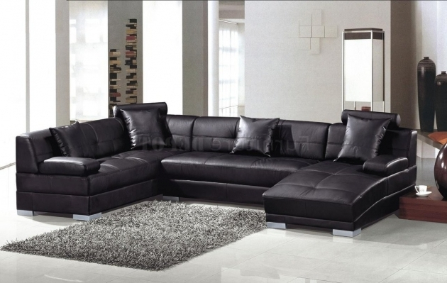 Modern Black Leather Sectional With Chaise Ideas Pictures 98