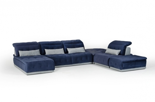 Modern Miami Blue Sectional Sofa With Chaise Furniture Picture 95