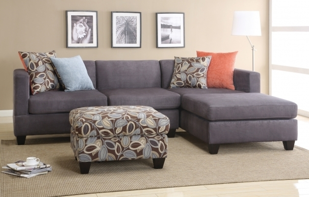 Poundex F7183 2 Pieces Small Microfiber Sectional Sofa With Chaise Image 94