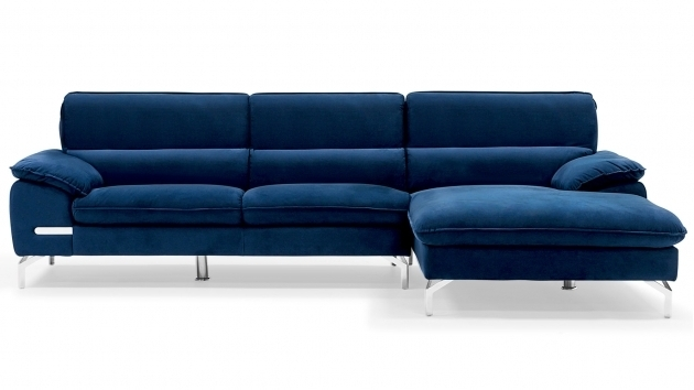 Sapphire Dark Blue Sectional Sofa With Chaise Set Picture 28