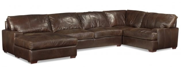 Usa Premium Brown Leather Sectional With Chaise Pictures 68
