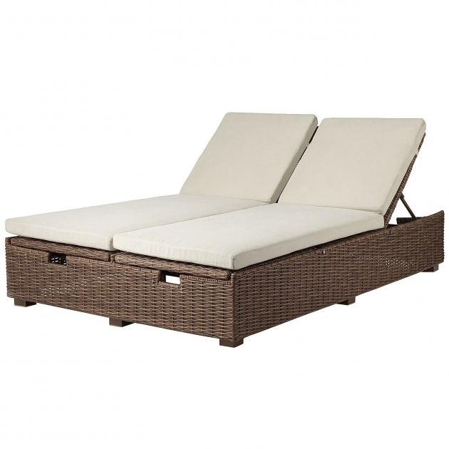 Double Chaise Lounge Cushion Outdoor Wicker Photo 83