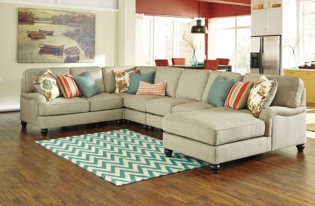 Leather Sectional Ashley Furniture Chaise Sofa Photo 95