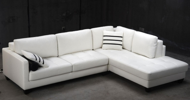 Modern White Sectional Sofa With Chaise Image 13