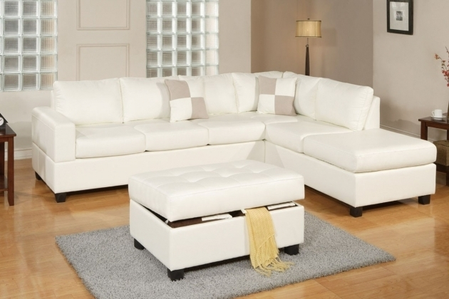 Poundex F7354 3 Pcs Bonded Leather White Sectional Sofa With Chaise Photo 77