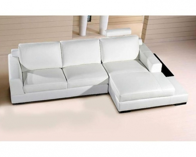 Small White Sectional Sofa With Chaise Base In Leather Photos 55