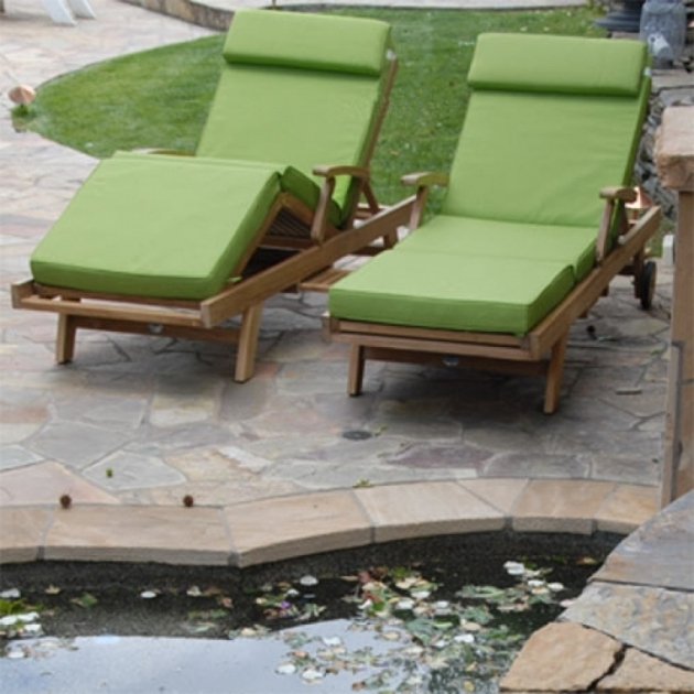 Teak Chaise Lounge Replacement Cushions Sunbrella Picture 98
