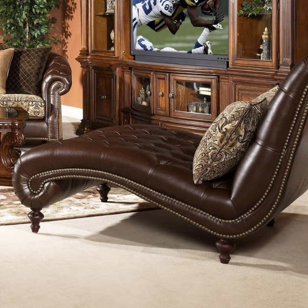 Leather Daybeds Oversized Indoor Double Chaise Lounge
